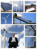 Mosaic of alternative energy sources — Stock Photo