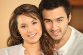 Portrait of a multiracial couple — Stock Photo