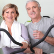 Couple working out together — Stock Photo #8782831