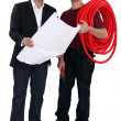 Architect and electrician — Stock Photo #8785166