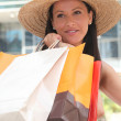 Young woman doing shopping — Stock Photo #8797201
