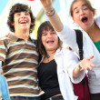 Stock Photo: Teenagers celebrating end of year