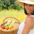 Carrying basket fruit — Stock Photo #8798137