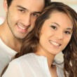 Portrait of smiling young couple — Stock Photo #8798856