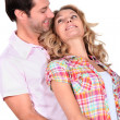 Affectionate couple stood together — Stock Photo #8799885