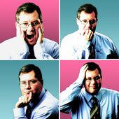 Expresiones faciales algún director 's — Foto de Stock