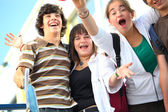 Teenagers celebrating the end of the year — Stock Photo