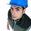 Funny high angle picture of foreman — Stock Photo #8802589