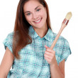 A portrait of a female painter. — Stock Photo #8802708