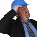 Man in suit with helmet — Stock Photo #8806808