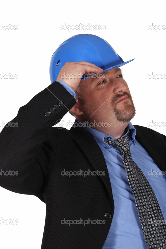 Man in suit with helmet  Stock Photo #8806808