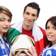 Friends supporting the Italian football team — Stock Photo #8816956