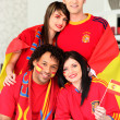Group of Spanish supporters — Stock Photo #8817260