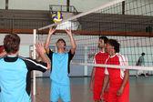 Giocatori di pallavolo — Foto Stock