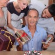 Stock Photo: Grandpa's birthday