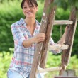 Stock Photo: Fruit picker in countryside