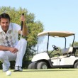 Stock Photo: Man playing golf