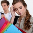 Student with a headache — Stockfoto
