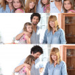 Stock Photo: Collage of family portraits
