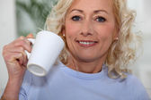 I always enjoy a nice cup of coffee. — Stock Photo