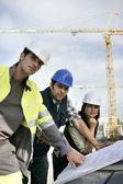 Collega op de bouwplaats — Stockfoto