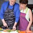 Stock Photo: Mature couple in kitchen