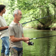 Father and son fishing — Stock Photo #8921421