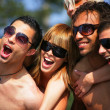 Friends on holiday — Stock Photo