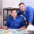 Stock Photo: Two technicians working in office