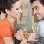 Couple celebrating moving — Stock Photo #8925143