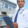 Doctor outside — Stock Photo