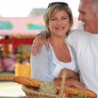 Couple shopping at the market — Stock Photo #8927567