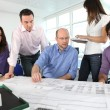Stock Photo: Architects having meeting