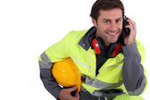 Workman in protective gear — Stock Photo