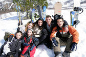 On a skiing holiday — Foto Stock