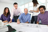 Architects having a meeting — Stock Photo