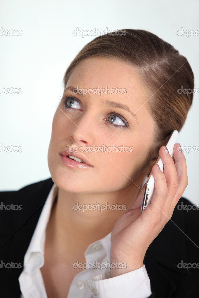 Businesswoman talking on the phone — Stock Photo #8924667