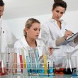Women working in a scientific laboratory — Stock Photo #8930553
