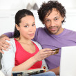 Stock Photo: Couple shopping online