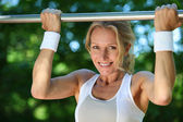 Woman circuit training — Stock Photo