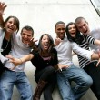 Youth group posing for photo — Stock Photo