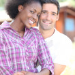 Beautiful mixed couple — Stock Photo