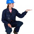 Young woman plumber — Stock Photo #8955370