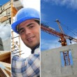 Photo-montage of construction industry — Stock Photo #8955456