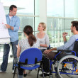 Disability at work — Stock Photo #8958014