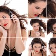 Portraits of gorgeous singer - Stockfoto