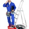 Electrician equipped - Stockfoto