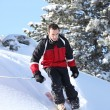 Stock Photo: Male downhill skier