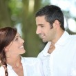 Couple in love on holiday — Stock Photo #8959562