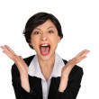 Business woman yelling — Stock Photo #8959608